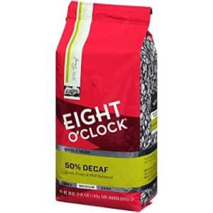 Eight O'Clock Coffee Eight O'Clock Whole Bean Coffee, 50% Decaf, 36 Ounce for $13
