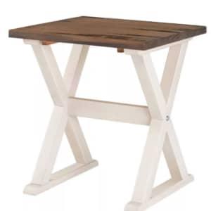 Saracina Home Xavier Farmhouse Trestle Leg Distressed Side Table for $120