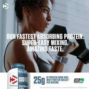 Dymatize ISO100 Hydrolyzed Protein Powder, 100% Whey Isolate Protein, 25g of Protein, 5.5g BCAAs, for $87