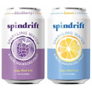 Spindrift Sparkling Water 12-oz. Can 48-Pack for $15