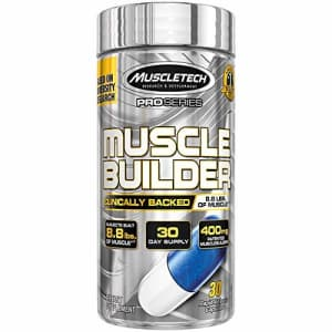MuscleTech Muscle Builder Supplement with Peak ATP, Improved Muscle Building & Performance, 30 for $22