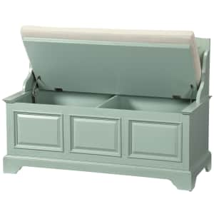 Home Decorators Collection Sadie High-Back Storage Bench w/ Cushion for $269