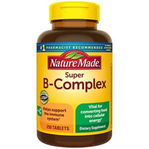 Nature Made Super B-Complex Tablets with Vitamin C, 250 Count for Metabolic Health (Packaging May for $32
