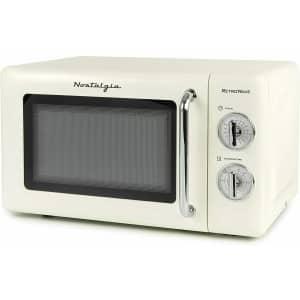 Nostalgia RetroWave 0.7-Cu. Ft. 700W Microwave for $68
