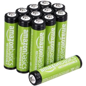 Amazon Basics AAA Rechargeable Batteries 12-Pack for $8.85 via Sub & Save