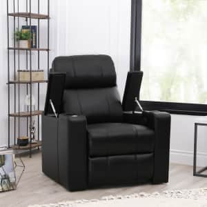 Abbyson Travis Leather Gel Home Theater Power Recliner for $449 for members