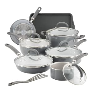 Rachael Ray 13-Piece Aluminum Nonstick Cookware Set for $140