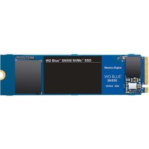 WD Blue SN550 1TB PCIe NVMe Internal M.2 SSD for $95