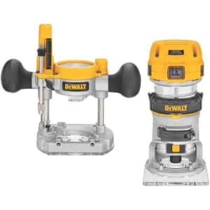 DEWALT Router Fixed/Plunge Base Kit, Variable Speed, 1.25-HP Max Torque (DWP611PK) for $207