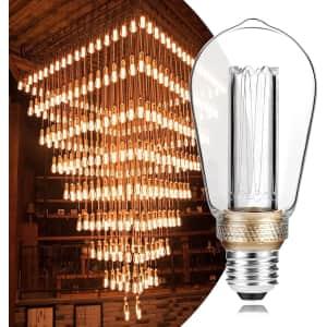 Meconard 4W LED Vintage Edison Bulb 4-Pack for $10