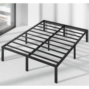 Zinus Yelena Classic Metal Queen Platform Bed Frame for $97