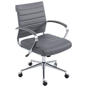 EdgeMod Tremaine Office Chair in Vegan Leather, Grey for $211