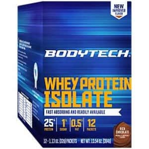 BodyTech Whey Protein Isolate Powder with 25 Grams of Protein per Serving BCAA's Ideal for for $28