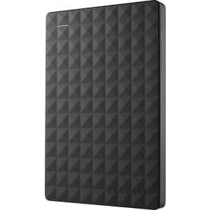Seagate Expansion 2TB USB 3.0 Portable Hard Drive for $58