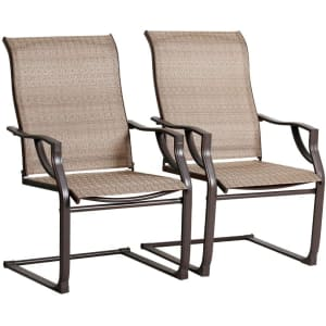 Bali Outdoor Spring-Motion Patio Chair 2-Pack for $99