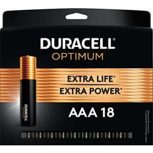 Duracell Optimum AAA Batteries 18-Pack for $10