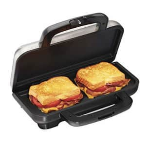 Proctor Silex Deluxe Hot Sandwich Maker, Nonstick Plates, Stainless Steel (25415) for $62