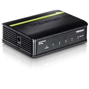 TRENDNet TEG-S5g 5-port gigabit unmanaged desktop housing switch for $37