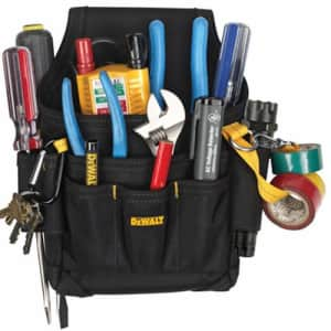 Custom LeatherCraft DEWALT DG5103 Small Durable Maintenance and Electrician's Pouch with Pockets for Tools, Flashlight, for $24