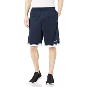 Reebok Men's Training Essentials Shorts, Vector Navy, X-Small for $16