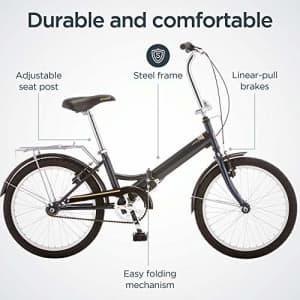 Schwinn Hinge Adult Folding Bike, 20-inch Wheels, Single Speed Drivetrain, Rear Carry Rack, for $320