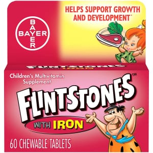 Flintstones Kids' Chewable Multivitamin with Iron 60-Count Bottle for $6.12 via Sub & Save