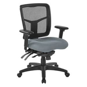 Office Star ProGrid Mesh Mid Back Manager's Chair, Fun Colors Grey for $229