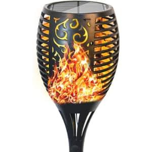 T-Mark Flickering Flames Solar Torch Light for $12