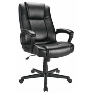 Realspace Hurston Bonded Leather High-Back Chair for $90 + 10% back in rewards