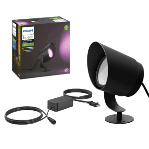 Philips Hue White & Color Ambiance Lily XL Outdoor Smart Spot Light Base Kit for $120