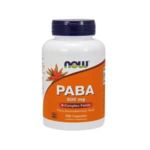 Now Foods NOW Supplements, PABA (Para-Aminobenzoic Acid) 500 mg, B-Complex Family, 100 Capsules for $12