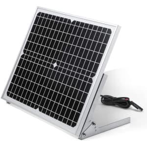 BougeRV 20V 20W Solar Panel Battery Charger Kit for $47
