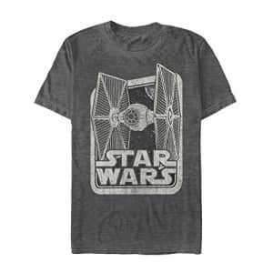 STAR WARS Men's T-Shirt, Black Heather, XXX-Large for $26