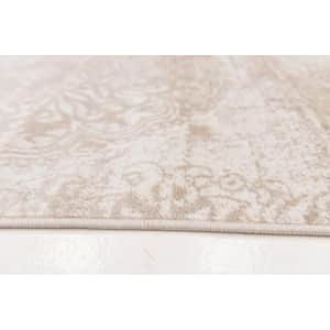 """Unique Loom Sofia Traditional Area Rug, 3' 3"""" x 19' 8"""" Runner, Tan/Ivory for $92"""