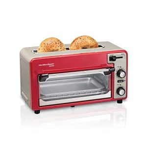 Hamilton Beach 2-in-1 Countertop Oven and 2-Slice Toaster with Extra Wide Slot, Shade Selector, for $110