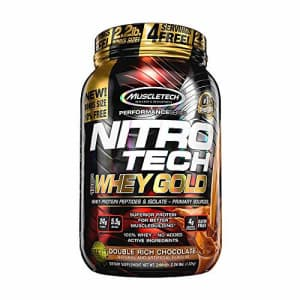 Whey Protein Powder | MuscleTech Nitro-Tech Whey Gold Protein Powder | Whey Protein Isolate for $36