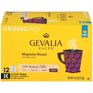 Gevalia Majestic Roast K-Cup Coffee Pods (72 Pods, 12 Count (Pack of 6)) for $35