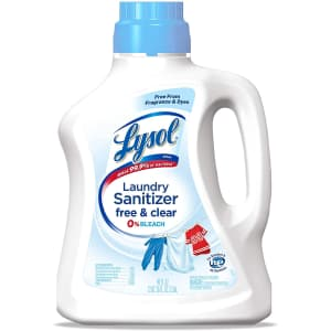 Lysol Laundry Sanitizer Additive Free & Clear 90-Oz. Bottle for $10