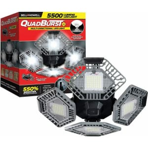 Bell & Howell Quadburst 5500 Lumens Garage Light for $35