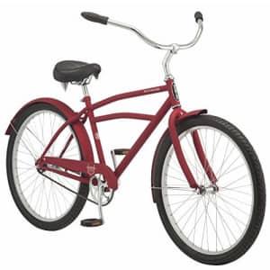 Schwinn Huron Adult Beach Cruiser Bike, Featuring 17-Inch/Medium Steel Step-Over Frames, 1-Speed for $305