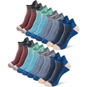 Newdora Men's Ankle Socks 8-Pack for $8