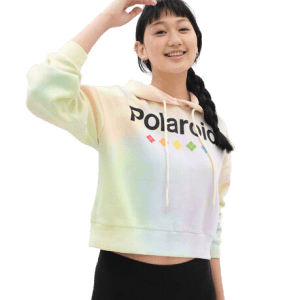 Aeropostale Women's Polaroid Tie-Dye Pullover Hoodie for $13