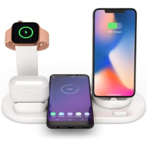 Decdeal 4-in-1 Qi--Certified Wireless Charging Station for $17