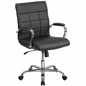 Flash Furniture Mid-Back Black Vinyl Executive Swivel Office Chair with Chrome Base and Arms for $128