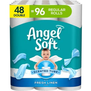 Angel Soft Toilet Paper Double Roll 48-Pack for $23