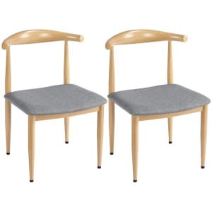 SmileMart Modern Armless Dining Chair 2-Pack for $80