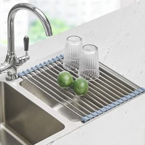 Seropy Roll-Up Dish Drying Rack for $9