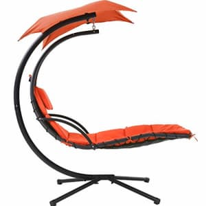 FDW Hammock Chair Hammock Stand Outdoor Chair Patio Lounge Chair Outdoor Hanging Chair Patio Swing for $151