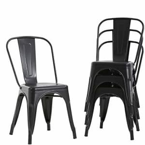 FDW Metal Dining Chairs Set of 4 Indoor Outdoor Chairs Patio Chairs Kitchen Metal Chairs 18 Inch Seat for $129