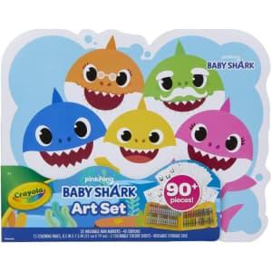 Crayola 90-Piece Baby Shark Art Set for $16